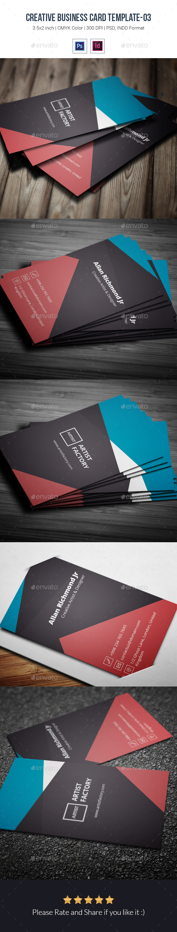 Creative Business Card Template-03 - Creative Business Cards