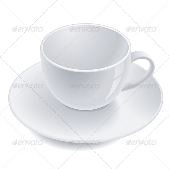 Empty teacup - Man-made Objects Objects