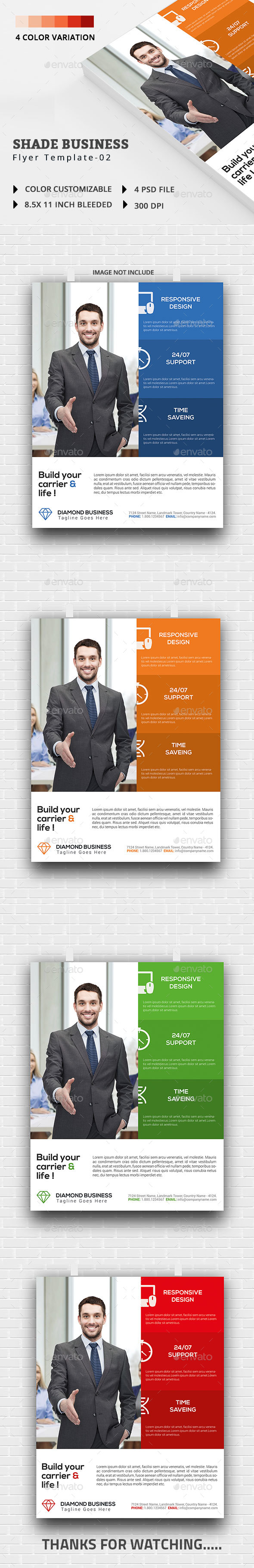 Shade Business Flyer Template-02 - Flyers Print Templates