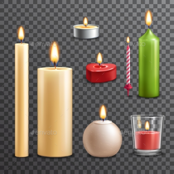 Candles Transparent Set - Man-made Objects Objects