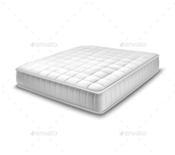 Double Mattress in Realistic Style - Man-made Objects Objects