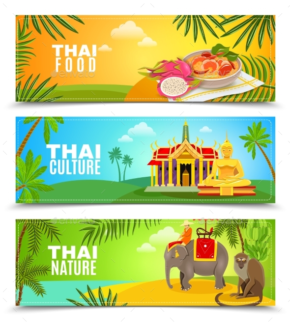 Thailand Horizontal Banners - Travel Conceptual