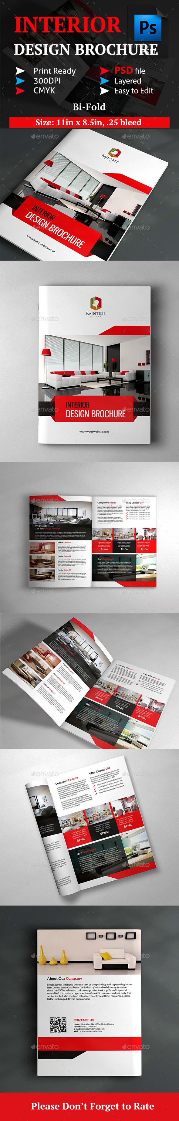Interior Design Brochure - Brochures Print Templates