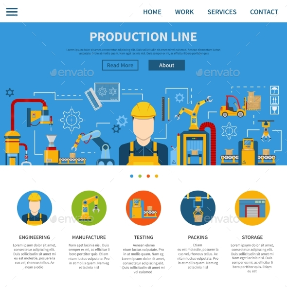 Production Line Page - Industries Business