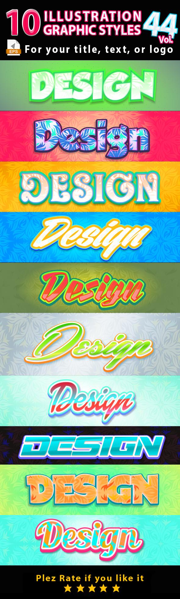 10 Illustrator Graphic Styles Vol.46 - Styles Illustrator