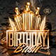 Gold Birthday Bash | Psd Flyer Template - GraphicRiver Item for Sale