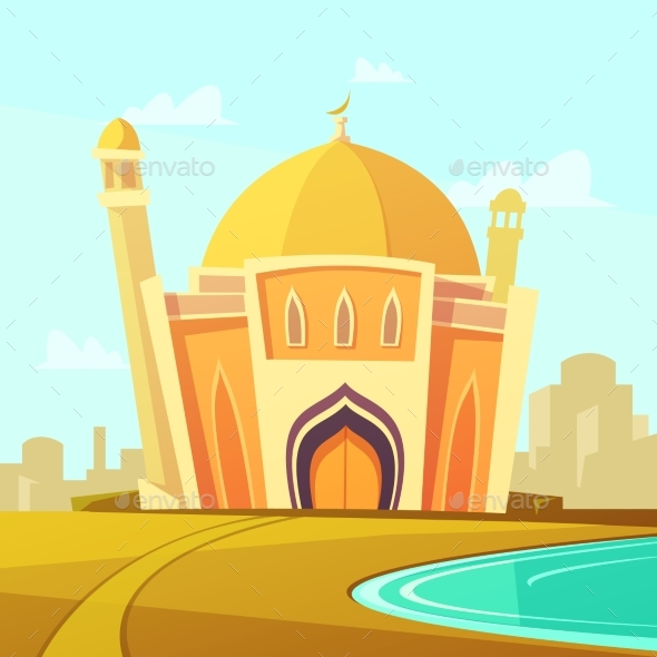 Mosque Building Illustration  - Religion Conceptual