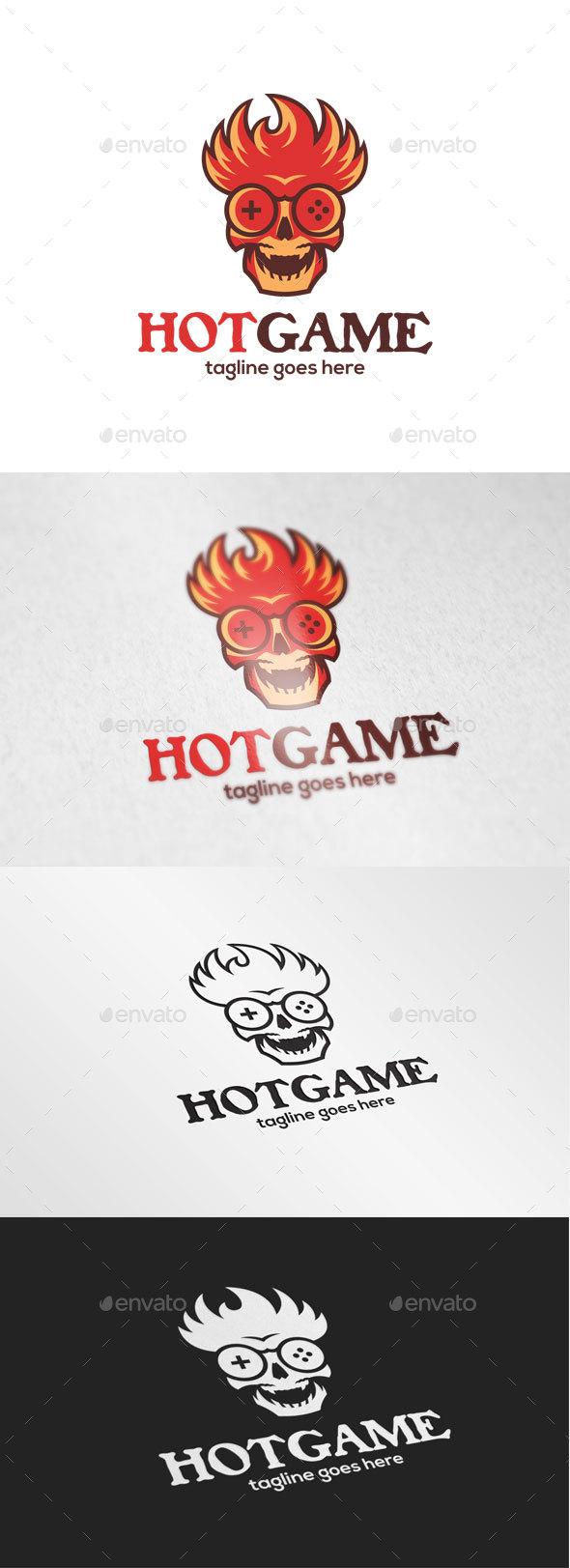 Fire Skull Game Logo - Humans Logo Templates