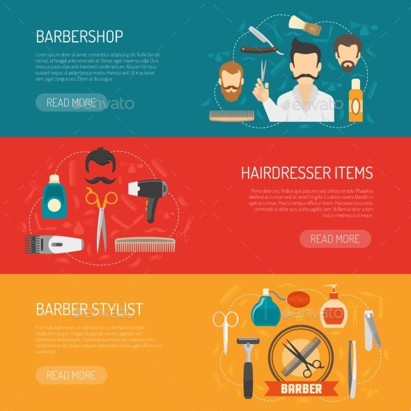 Barber Horizontal Banner - Services Commercial / Shopping