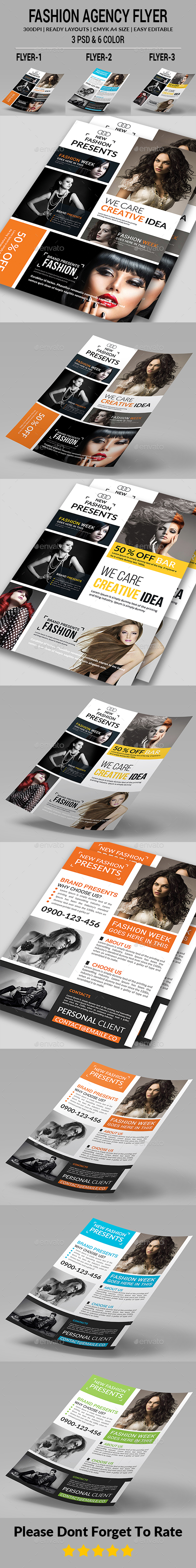 Fashion Agency Flyers Bundle - Corporate Flyers