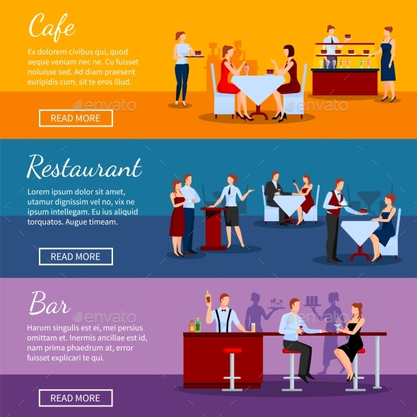 Catering Banners Set - Services Commercial / Shopping