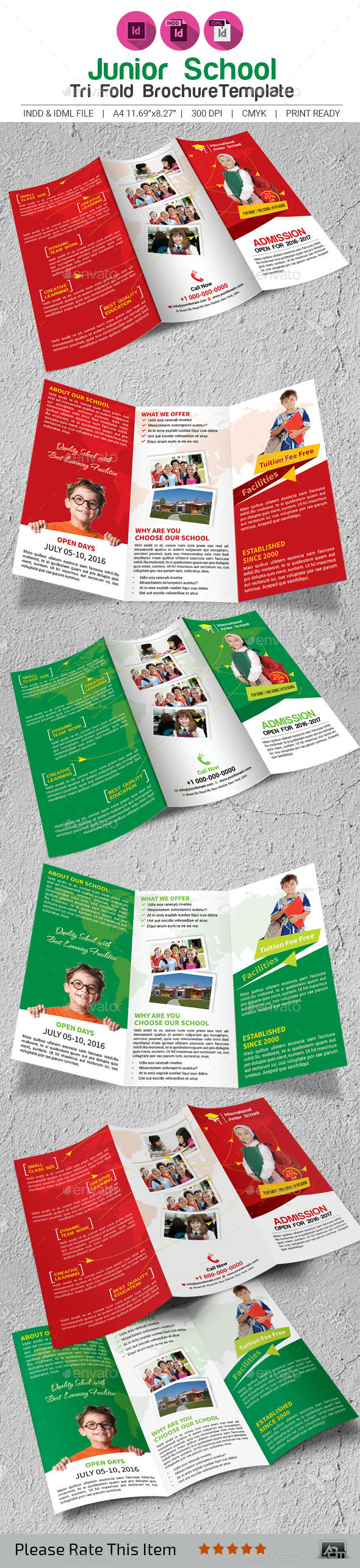 Junior School Brochure Template - Corporate Flyers