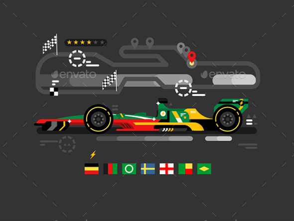 Motorsport Formula One - Miscellaneous Vectors