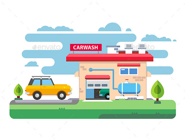 Car Wash Station - Buildings Objects