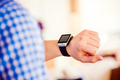 Close up of unrecognizable man using smart watch - PhotoDune Item for Sale