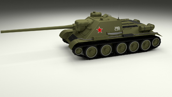 SU 100 Tank Destroyer - 3DOcean Item for Sale
