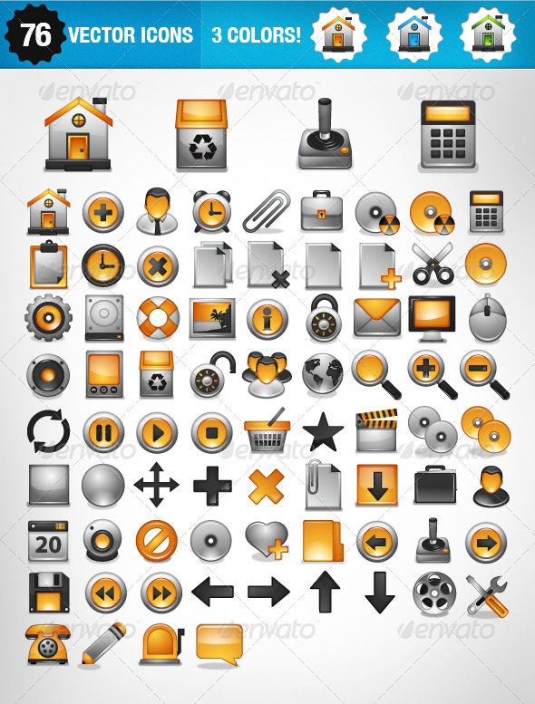 General 76 icons - Web Icons
