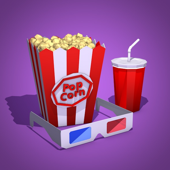 Low Poly Cinema - 3DOcean Item for Sale