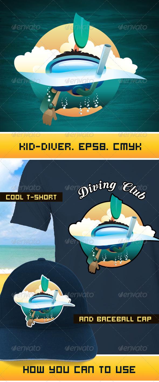 Diver - Characters Vectors