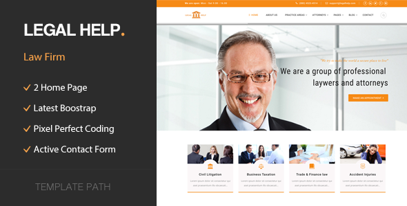 Legal Help - Law & Business HTML Template - Business Corporate