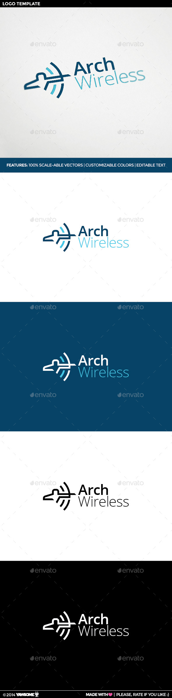 Arch Wireless Logo - Logo Templates