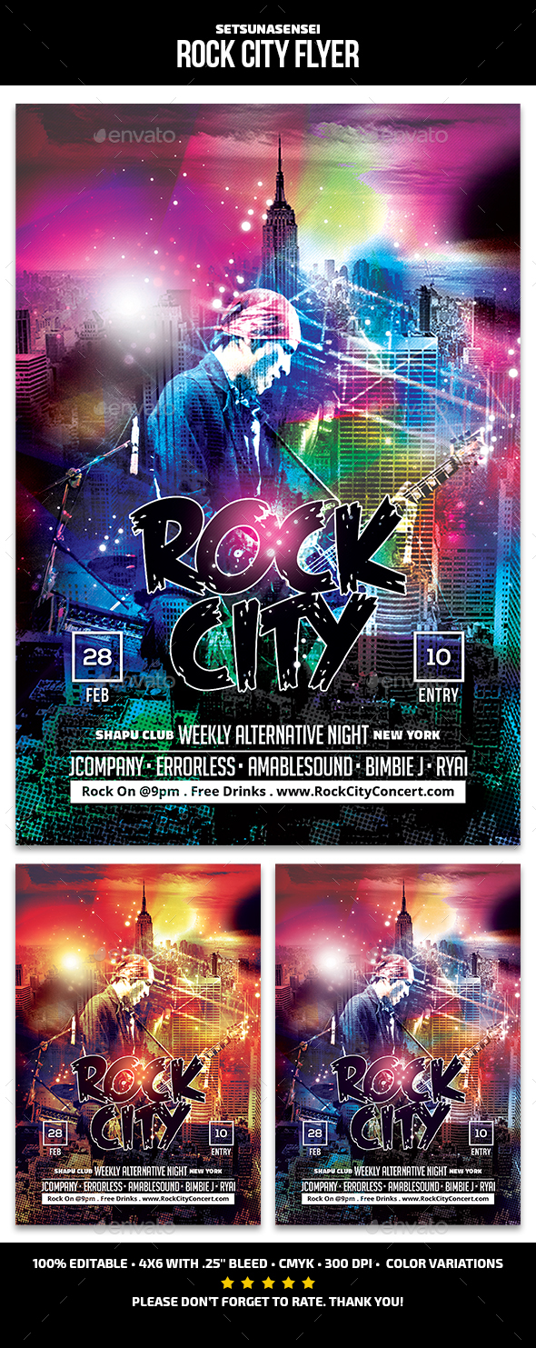 Rock City Flyer - Concerts Events