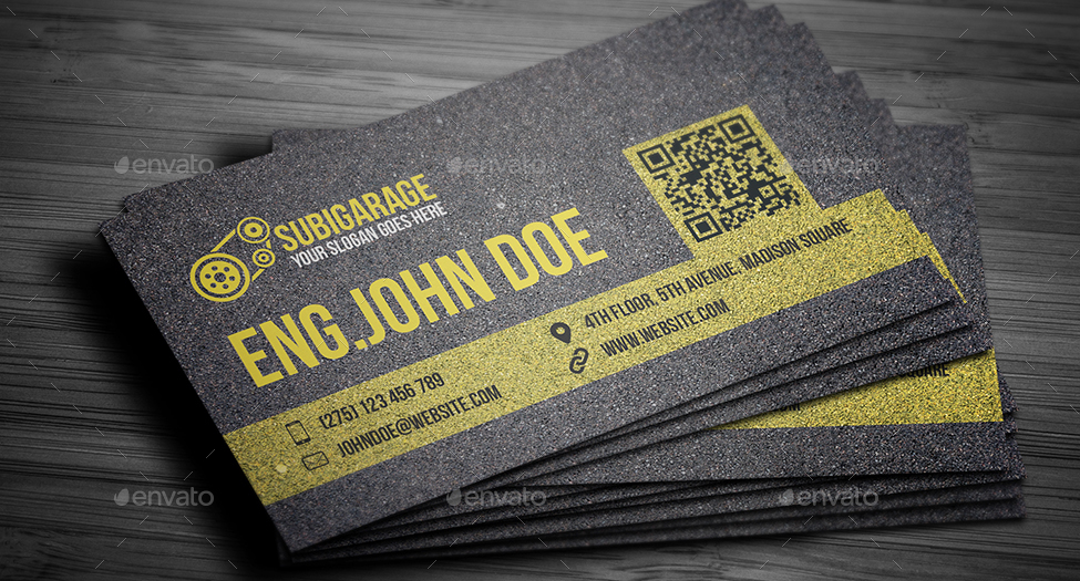 Car Mechanic Business Card by mmounirf   GraphicRiver