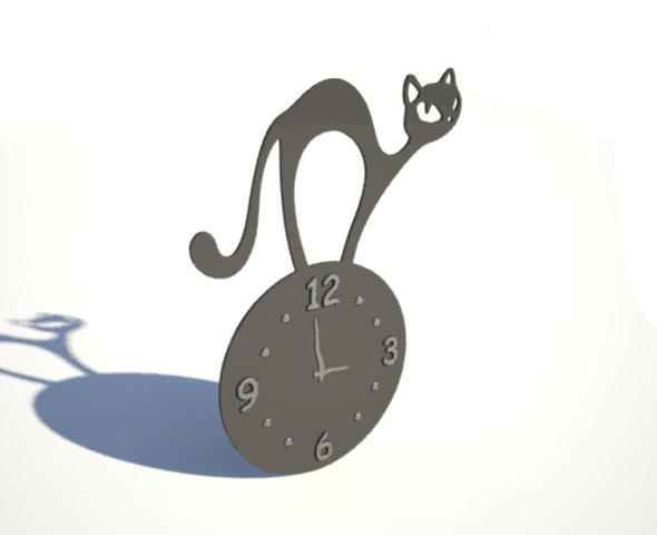 Low Poly Decorative Wall Clock - 3DOcean Item for Sale