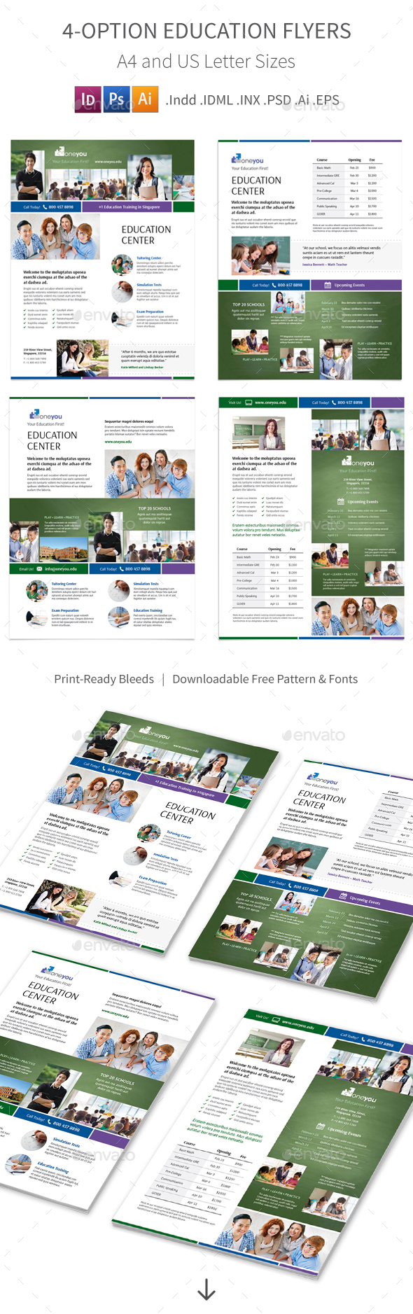 Education Flyers 4 – 4 Options - Corporate Flyers