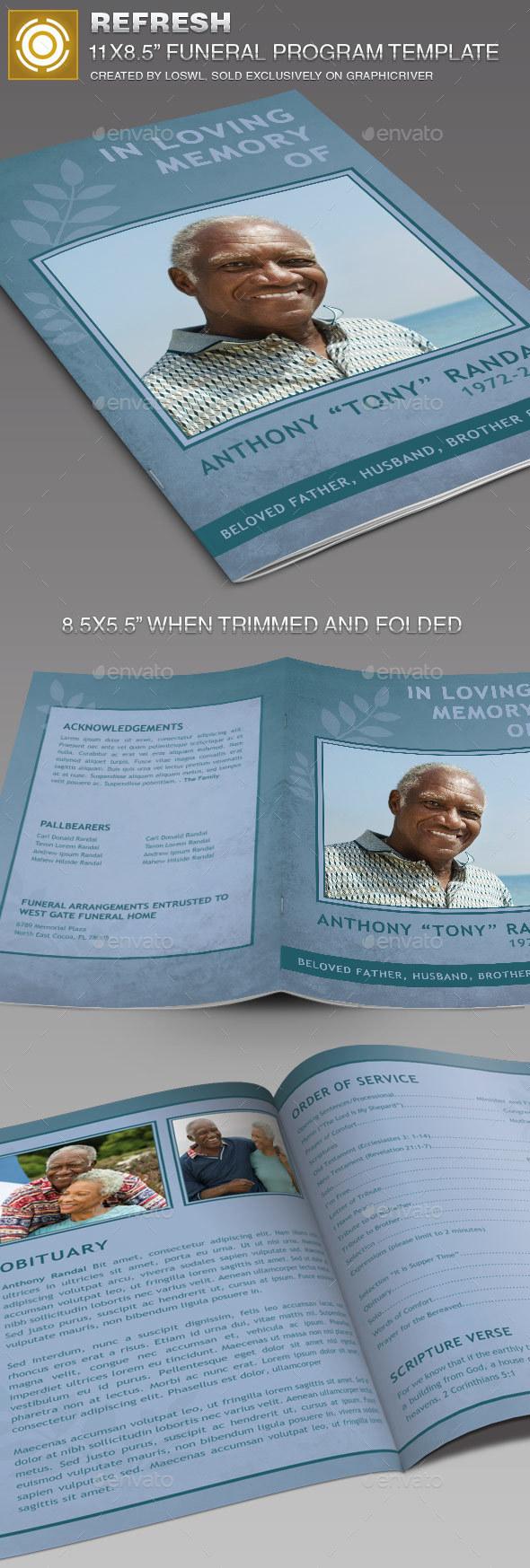 Refresh Funeral Program Template - Informational Brochures