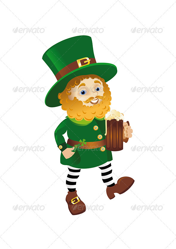 Funny Leprechaun - Characters Vectors