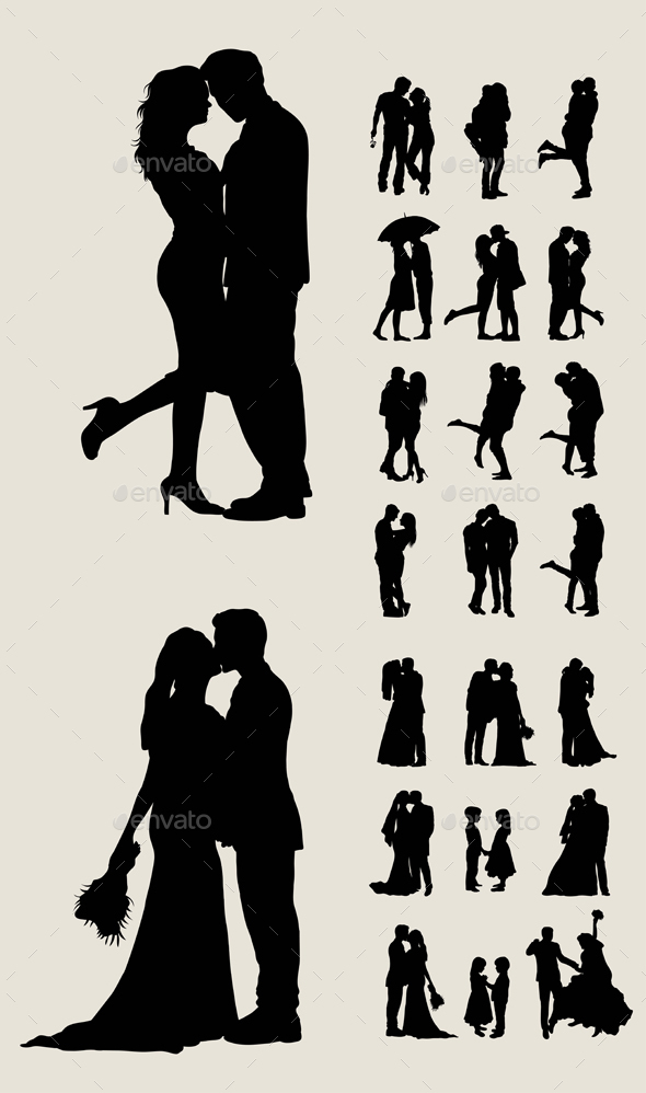 Silhouette Courtship and Marriage - Weddings Seasons/Holidays