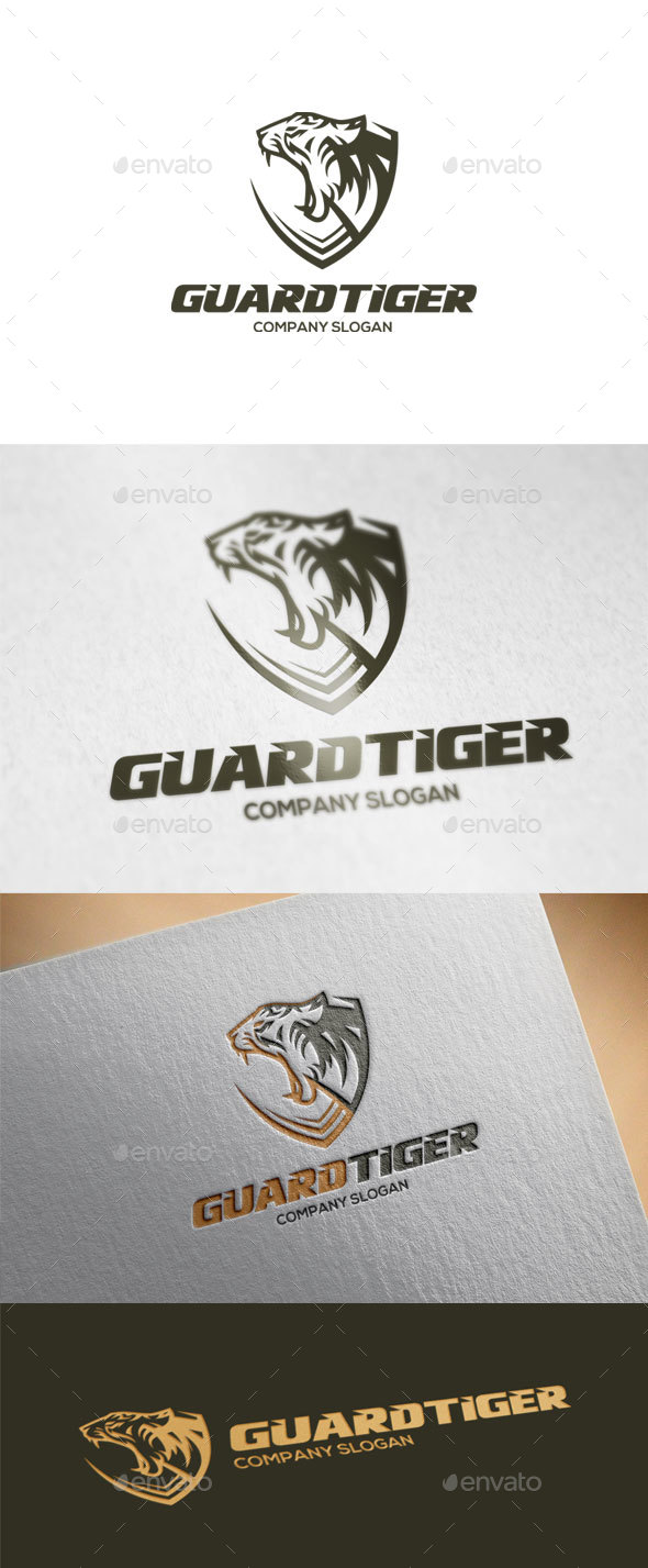 Guard Tiger Logo Template - Animals Logo Templates