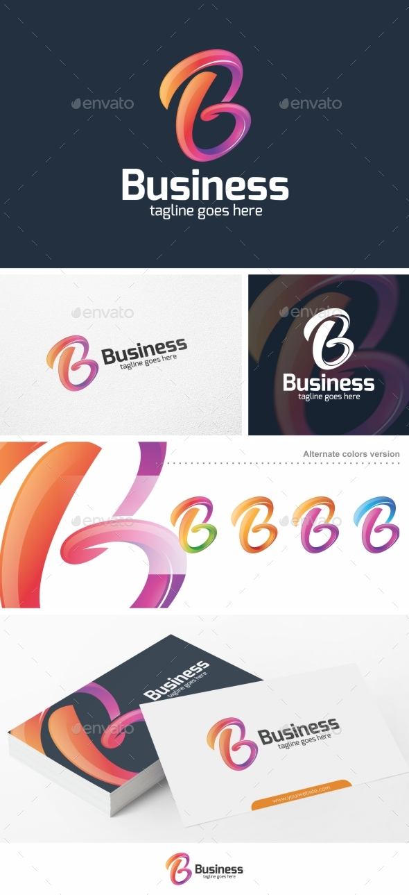 Business / Letter B - Logo Template - Letters Logo Templates