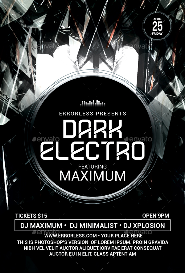 Dark Electro Flyer By Errorless  Graphicriver