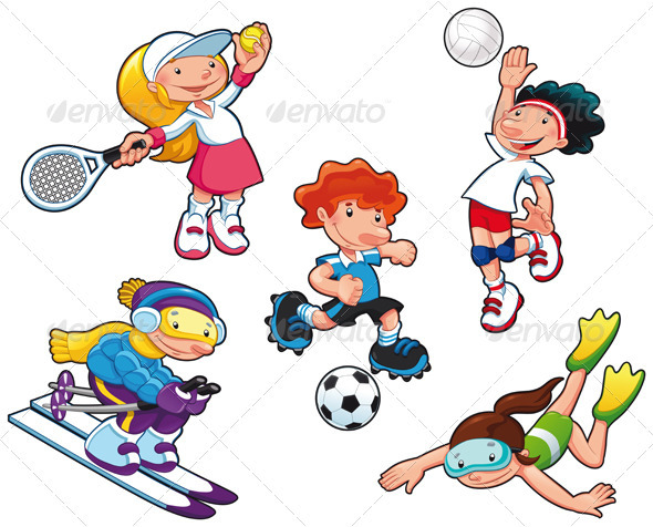 Sport characters. - Sports/Activity Conceptual