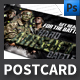 Air Soft Event Postcard Template - GraphicRiver Item for Sale
