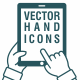 Vector Hand Icons - Touch Screen - GraphicRiver Item for Sale