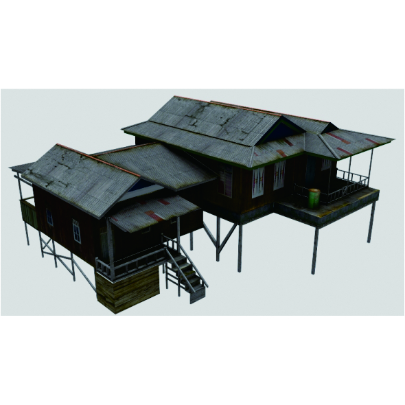 Low_poly_house_gen - 3DOcean Item for Sale