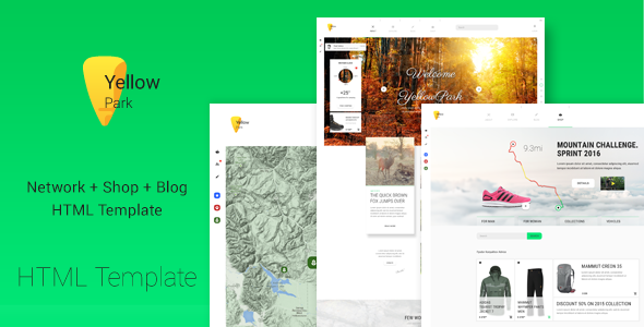 YellowPark – Social Network, Shop and Blog HTML5 Template