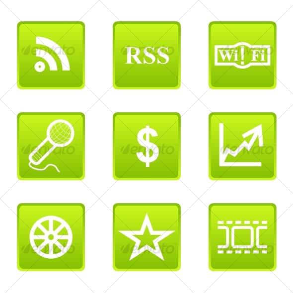 Glossy icon set 2 - Web Icons