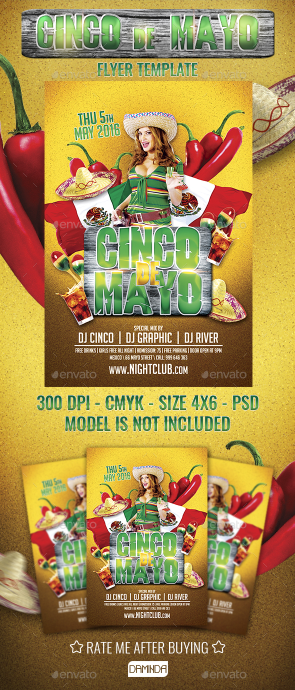 Mexican Party Flyer Template - Holidays Events