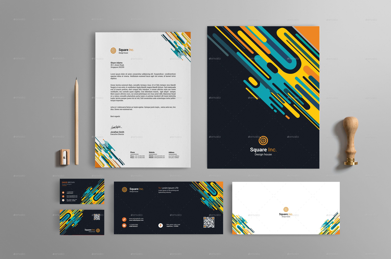 abstract brand identity design by warp street