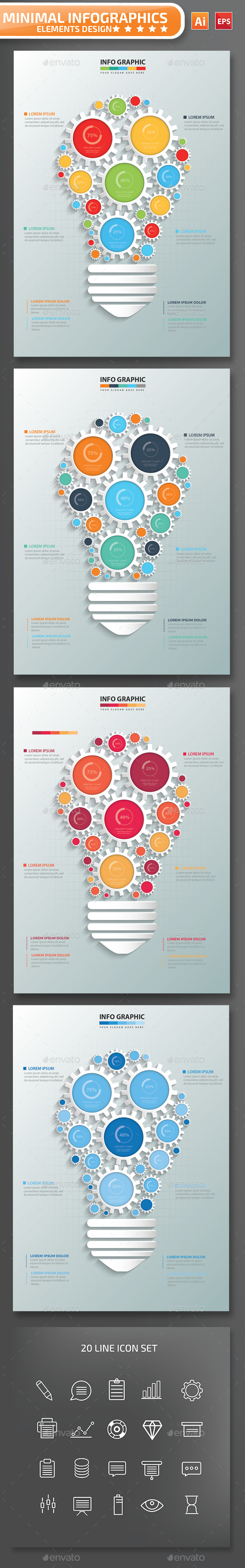 Minimal Idea Infographic Design - Infographics