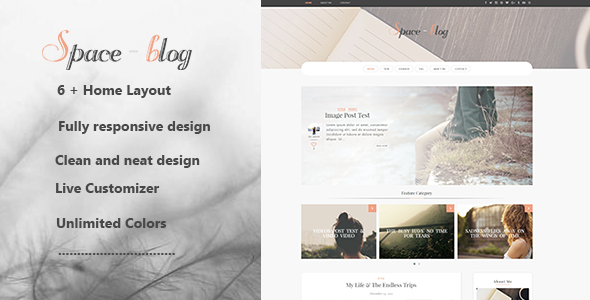 Space –  Multiple Layout WordPress Blog Theme