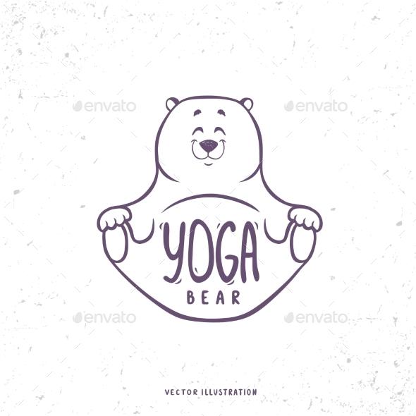 Yoga Bear - Animals Characters