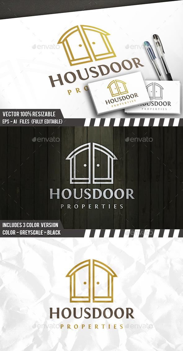 House Doors Logo - Buildings Logo Templates