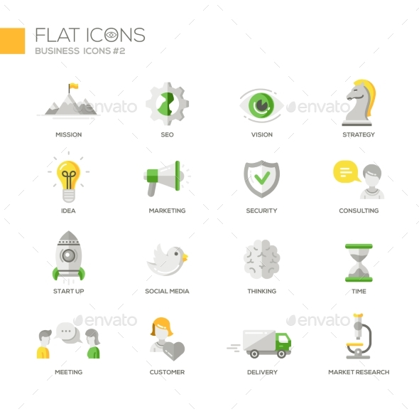Office Business Modern Thin Line Design Icons - Concepts Business