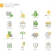 Modern Office And Business Line Flat Design Icons - GraphicRiver Item for Sale
