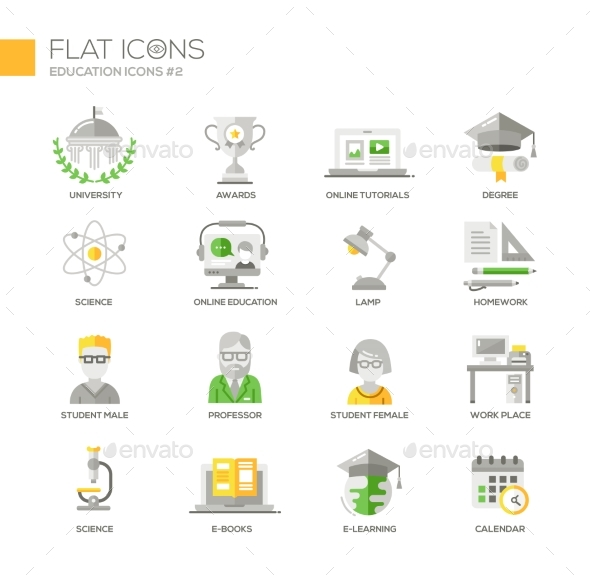 Modern School And Education Thin Line Design Icons - Technology Icons